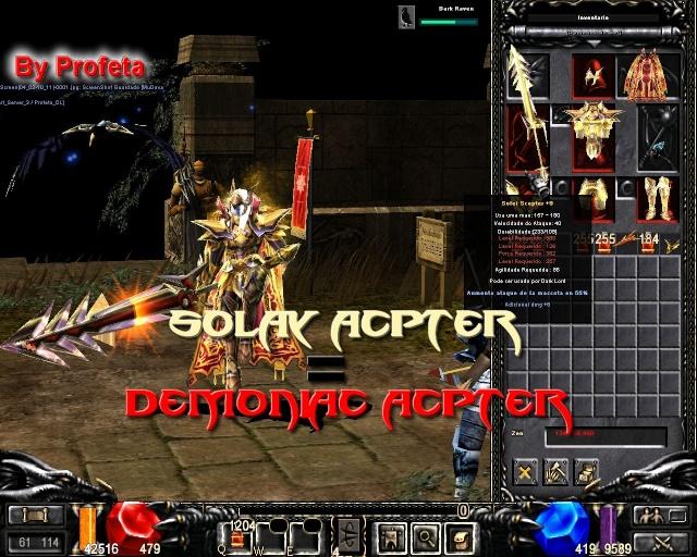 Solay Scepter = Reemplaza Demoniac Scepter Lolvt010