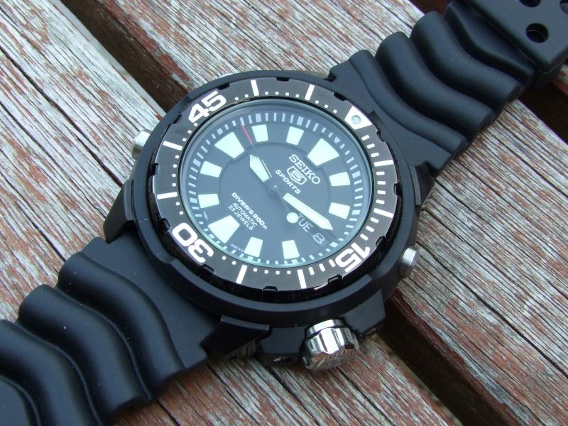 """Seiko 5 SKZ255K1 """"FrankenMonster"""" Automatic Diver Caoutc10"""