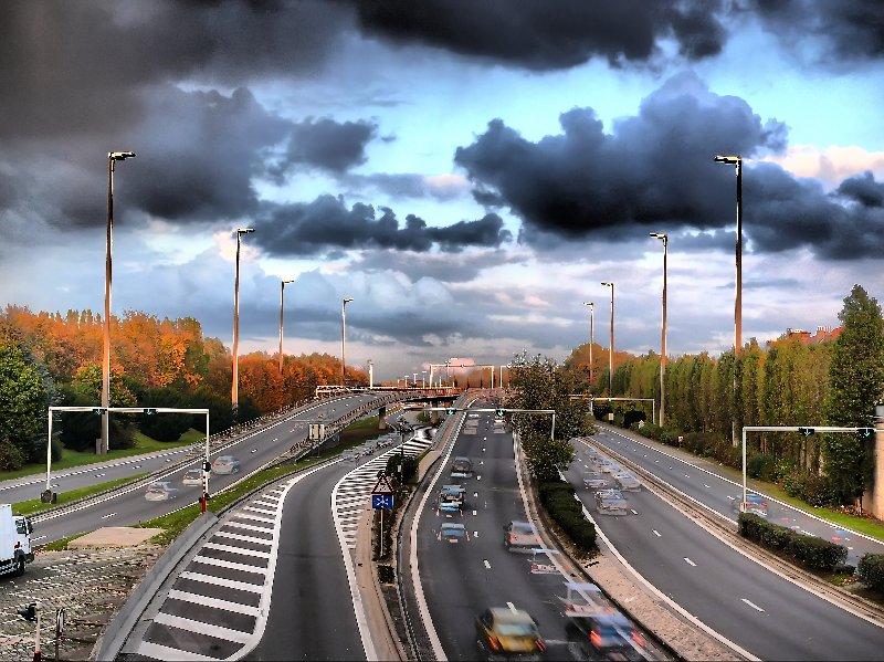 Début de l'autoroute E40 à Reyers, ici à Bruxelles P1130710