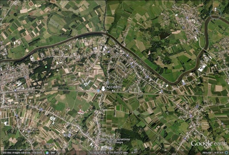 Belgique : déraillement d'un train transportant du cyanure, spectaculaire incendie Accide10