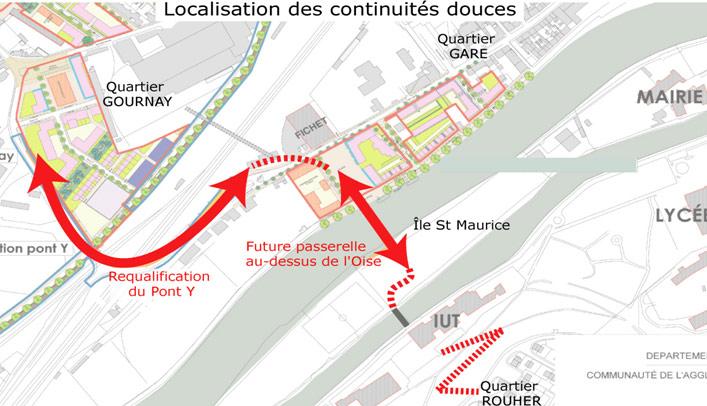 [Enfin visible sur Google Earth] - Future Passerelle de Creil, Oise Locali10