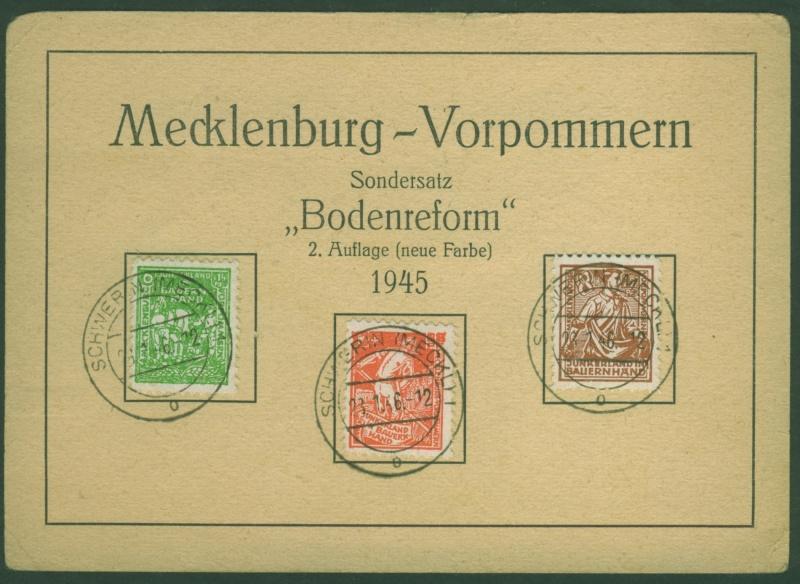 Mecklenburg - Mecklenburg - Vorpommern (OPD Schwerin) -Sowjetische Besatzungszone Meckle10