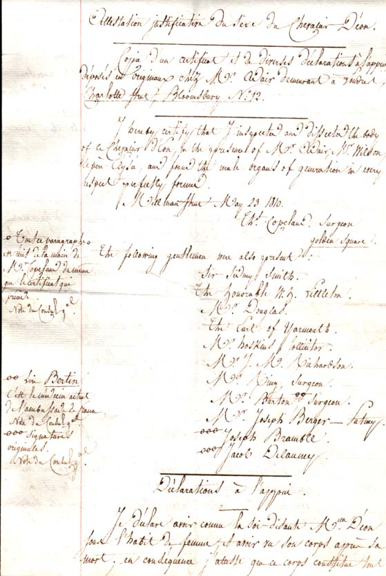 Charles d'Éon de Beaumont, dit le chevalier d'Éon - Page 2 Acte_d10