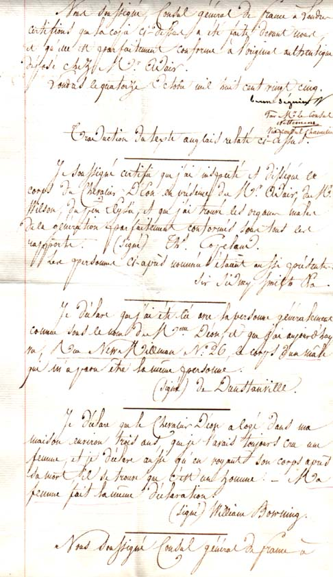 Charles d'Éon de Beaumont, dit le chevalier d'Éon - Page 2 Acte_d12