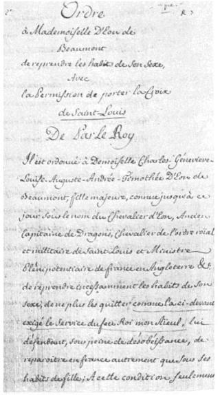 Charles d'Éon de Beaumont, dit le chevalier d'Éon - Page 2 Eon_lo10