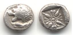 1/12 de estátera, ceca Miletos, S. VI. a.C. Griega12