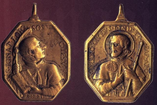 medalla S. Ignacio y S. Fco Javier. S.XVII Ignaci10