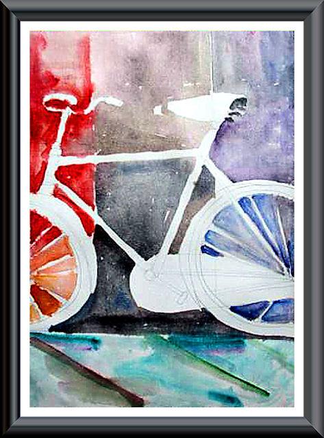 """""""La bicicletta nell'Arte"""" Acquar11"""