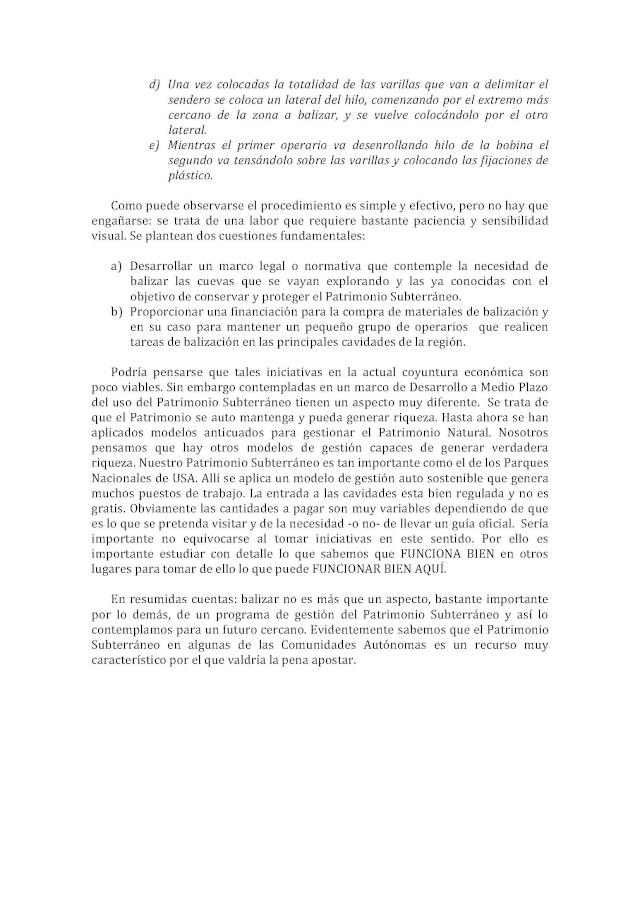 Balización de cavidades en Cantabria Baliza11