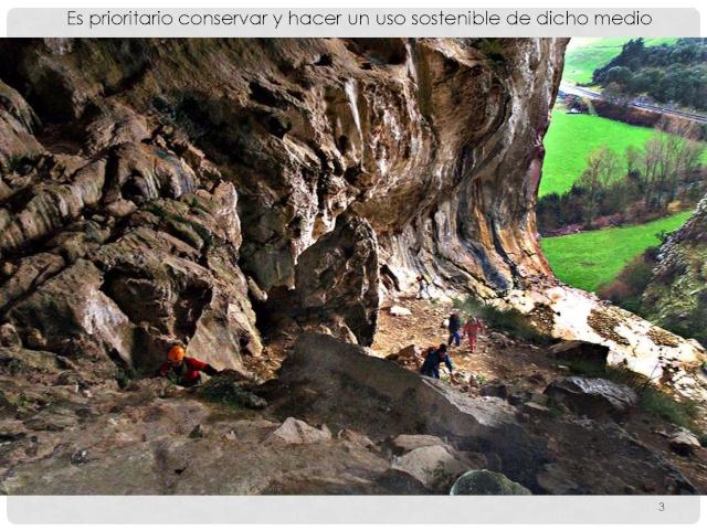 Balización de cavidades en Cantabria Baliza15