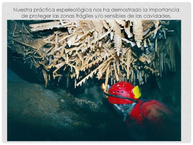 Balización de cavidades en Cantabria Baliza16