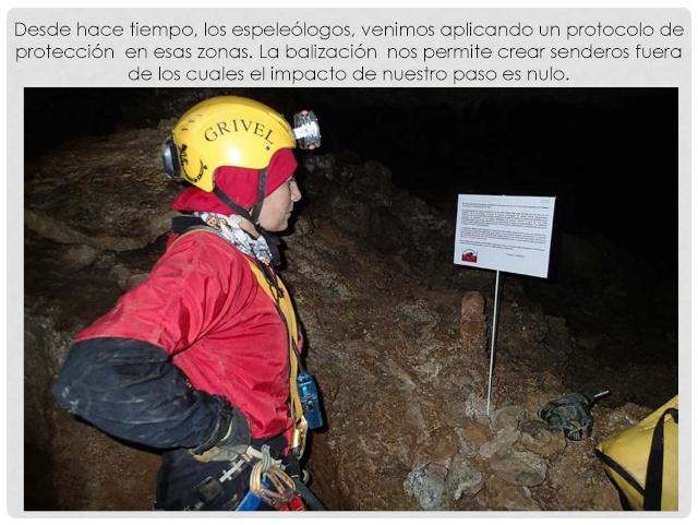 Balización de cavidades en Cantabria Baliza17