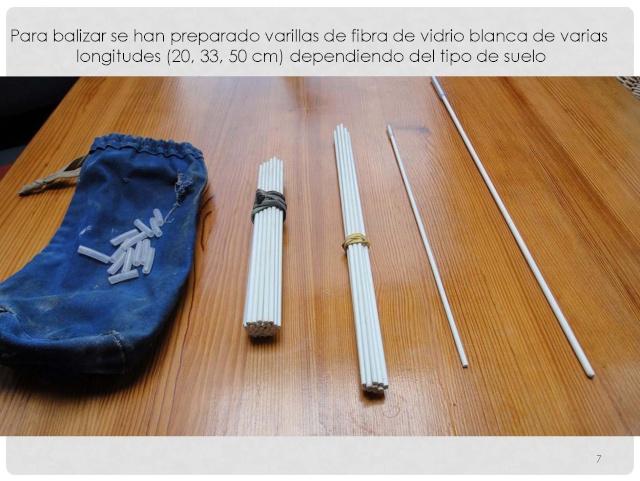 Balización de cavidades en Cantabria Baliza19