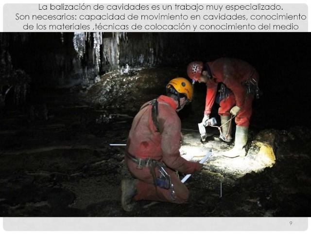 Balización de cavidades en Cantabria Baliza21