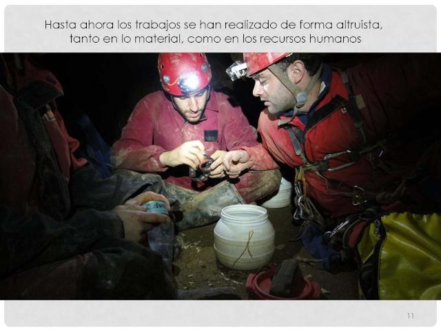 Balización de cavidades en Cantabria Baliza23