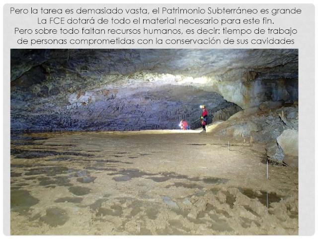 Balización de cavidades en Cantabria Baliza24