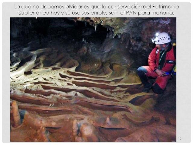 Balización de cavidades en Cantabria Baliza25
