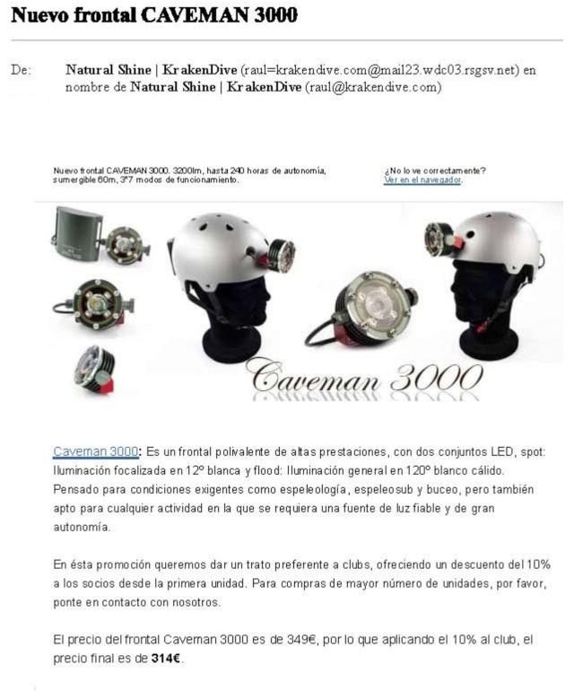 Nuevos frontales Caveman, más oferta para iluminación con LED en espeleo Nuevo-10