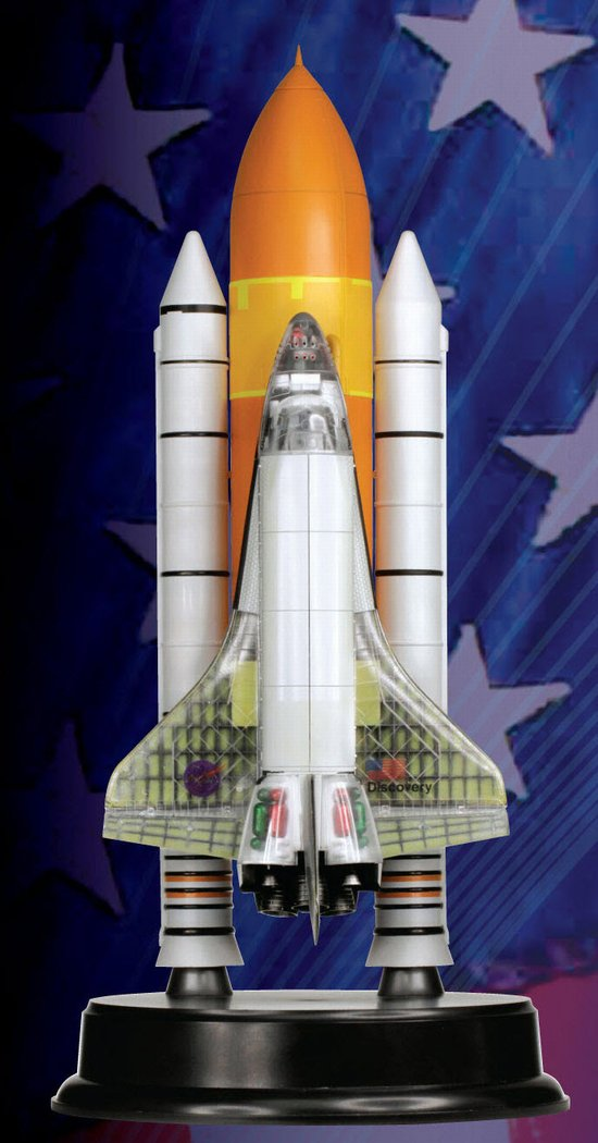 Space Shuttle Discovery cutaway w/solid rocket booster [ 1/144 Dragon] L_drp412