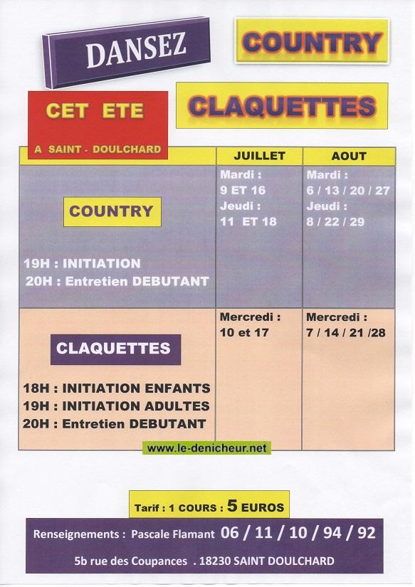 JUILLET-AOÛT - ST-DOULCHARD - Stage de danse country et claquettes_* 08-20110