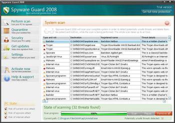 برنامج حماية من ملفات التجسس, Spyware Guard, الاصدار الاخير Sg200810
