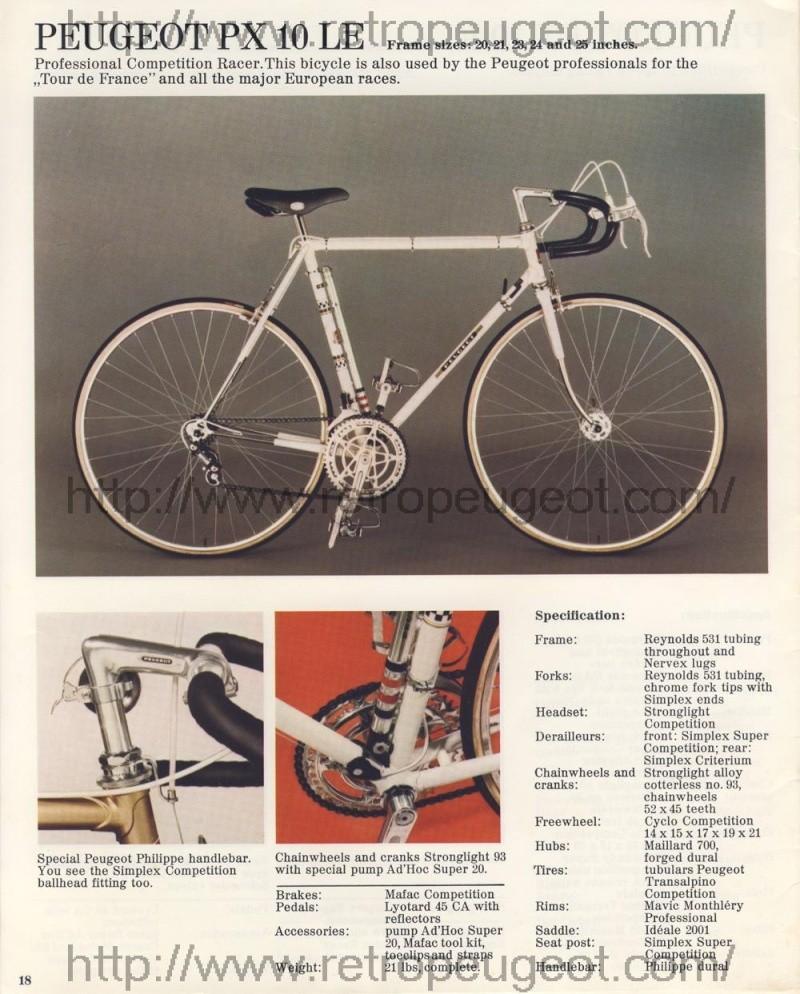 PEUGEOT PX 10 1974 Peugeo10