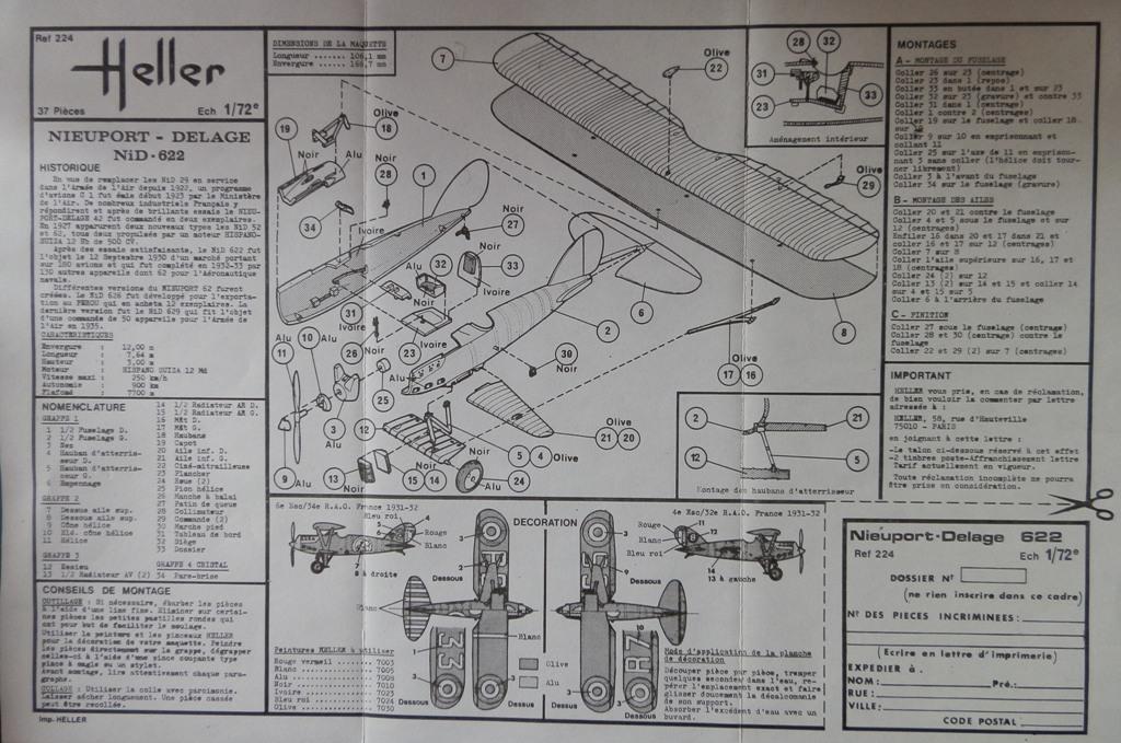 [Rusty] [Nieuport-Delage NiD 622] [Heller Boite noire ref. 224] [échelle 1/72] P6012718