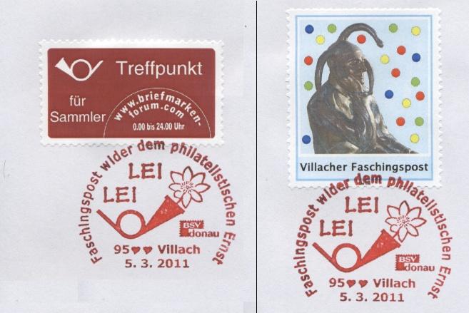 Sonderpostbeförderung Villacher Faschingspost  Bf_lei11