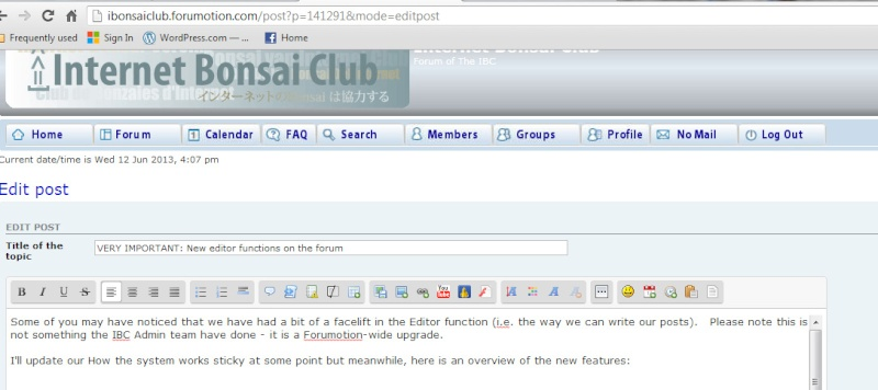 VERY IMPORTANT: New editor functions on the forum New_ba10