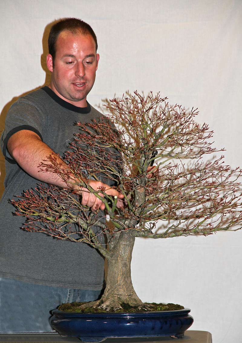 OWEN REICH LECTURE DEMO AT UPSTATE NY BONSAI SOCIETY Owen-210