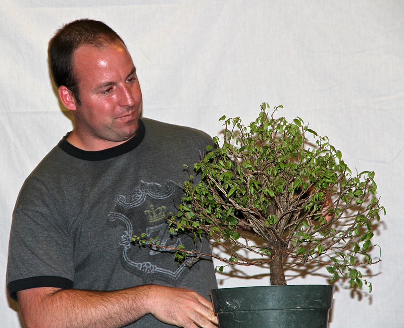 OWEN REICH LECTURE DEMO AT UPSTATE NY BONSAI SOCIETY Owen-310