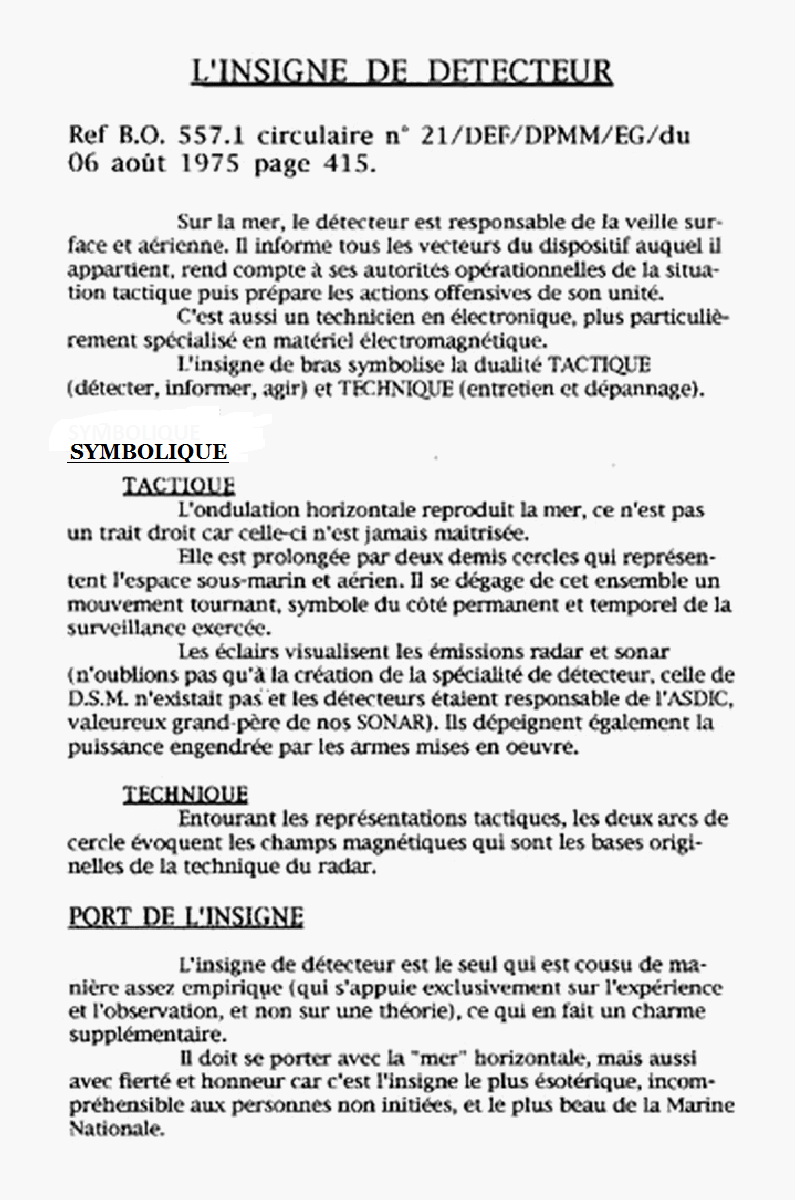 [Les écoles de spécialités] ÉCOLE DES DÉTECTEURS - PORQUEROLLES Insdet11