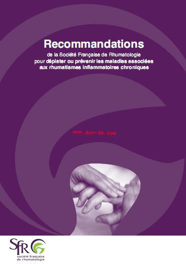 Recommandations de la SFR pour dépister ou prévenir les maladies associées  aux rhumatismes inflammatoires chroniques R010