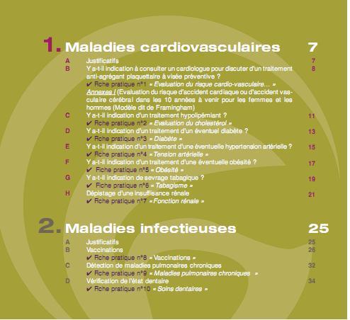 Recommandations de la SFR pour dépister ou prévenir les maladies associées  aux rhumatismes inflammatoires chroniques R110