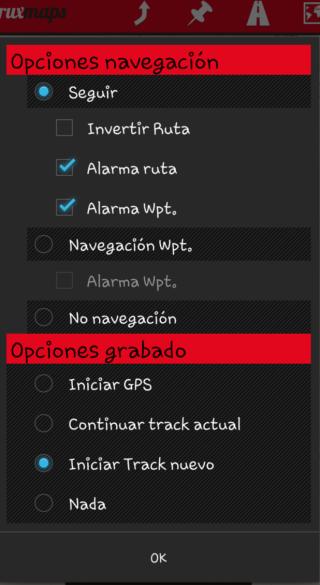 Hacer que oruxmaps lea en voz alta el nombre de los waypoints Device12