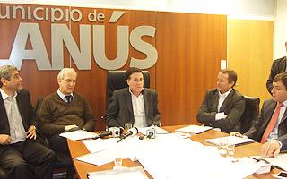Lanús: Intendentes de la región se reunieron para proyectar obras hídricas. 00121