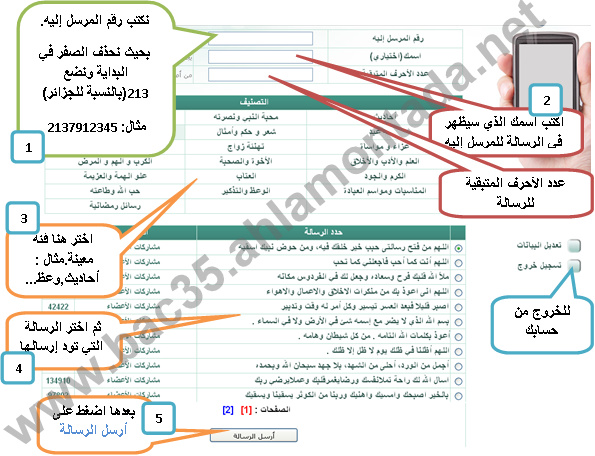 شرح ارسال 7 SMS دينية جاهزة كل شهر مجانا 7_bmp11