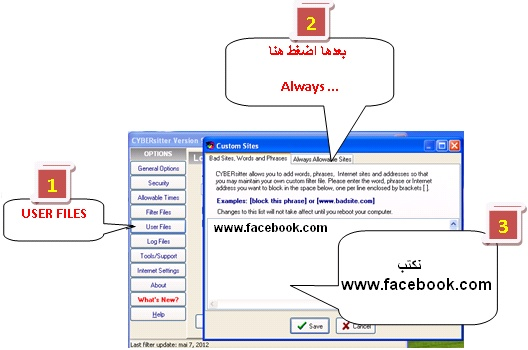 أفضل برنامج لحجب المواقع والصور الاباحية cybersitter 9 9_bmp12