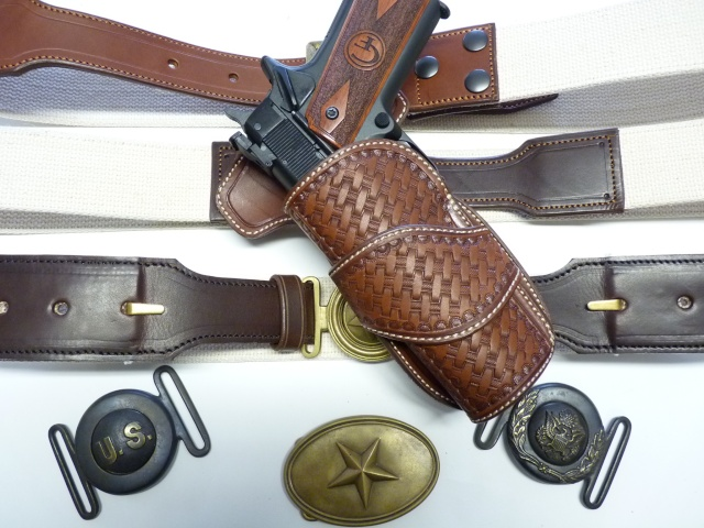 CANVAS BELT & RANGER'S HOLSTER by SLYE P1120828