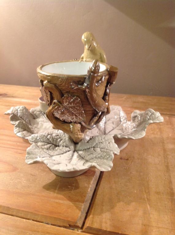 Bird, lizard, tree trunk, leaf... Love this..no idea on maker. Img_0211