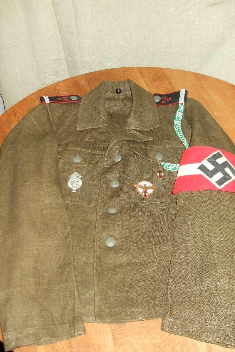 """Drell-Jacke"" d'une ""Adolf Hitler Schule"" (1936-1945) Photo_50"