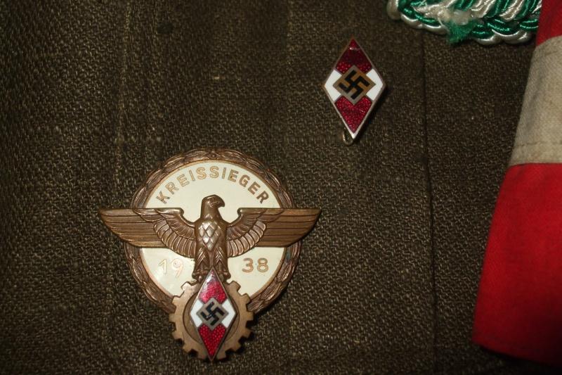 """Drell-Jacke"" d'une ""Adolf Hitler Schule"" (1936-1945) Photo_51"