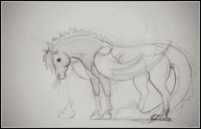 Dragon cheval Esquis10