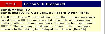 Falcon 9 / Dragon COTS-2: Préparatifs (Lancement le 19.05.2012 ) Dragon10
