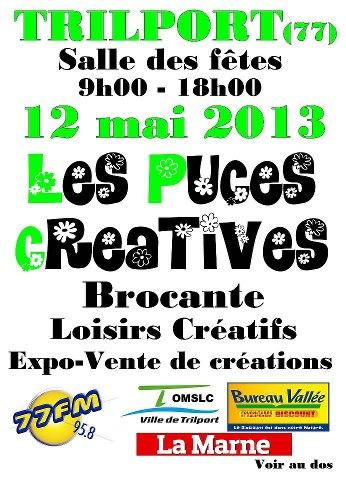 Puces Créatives,Brocante...à Trilport Dimanche 12 Mai !!!! Dim12m10