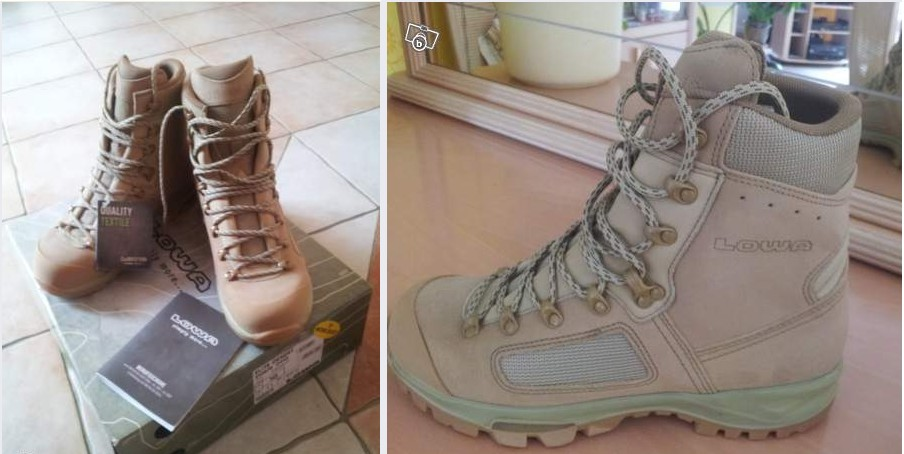 "chaussures  ""ELITE DESERT"" 44 1/2 neuves Lowa10"