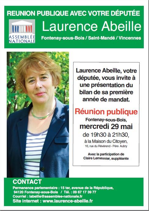 Réunion Laurence Abeille, députée Raunio10