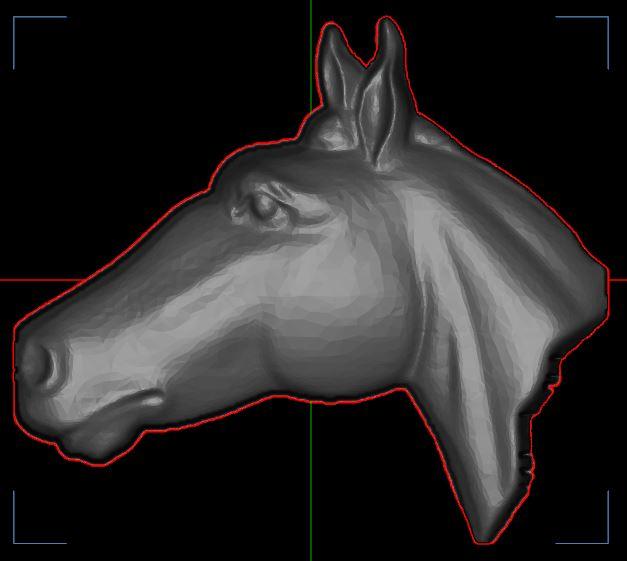 Contour d'une forme 3D Captur85