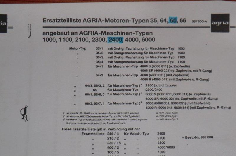 agria - pièces Agria 2400 005_210