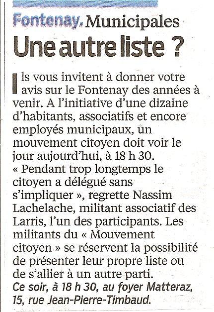 Y aura t'il une autre liste à Fontenay sous Bois Articl10